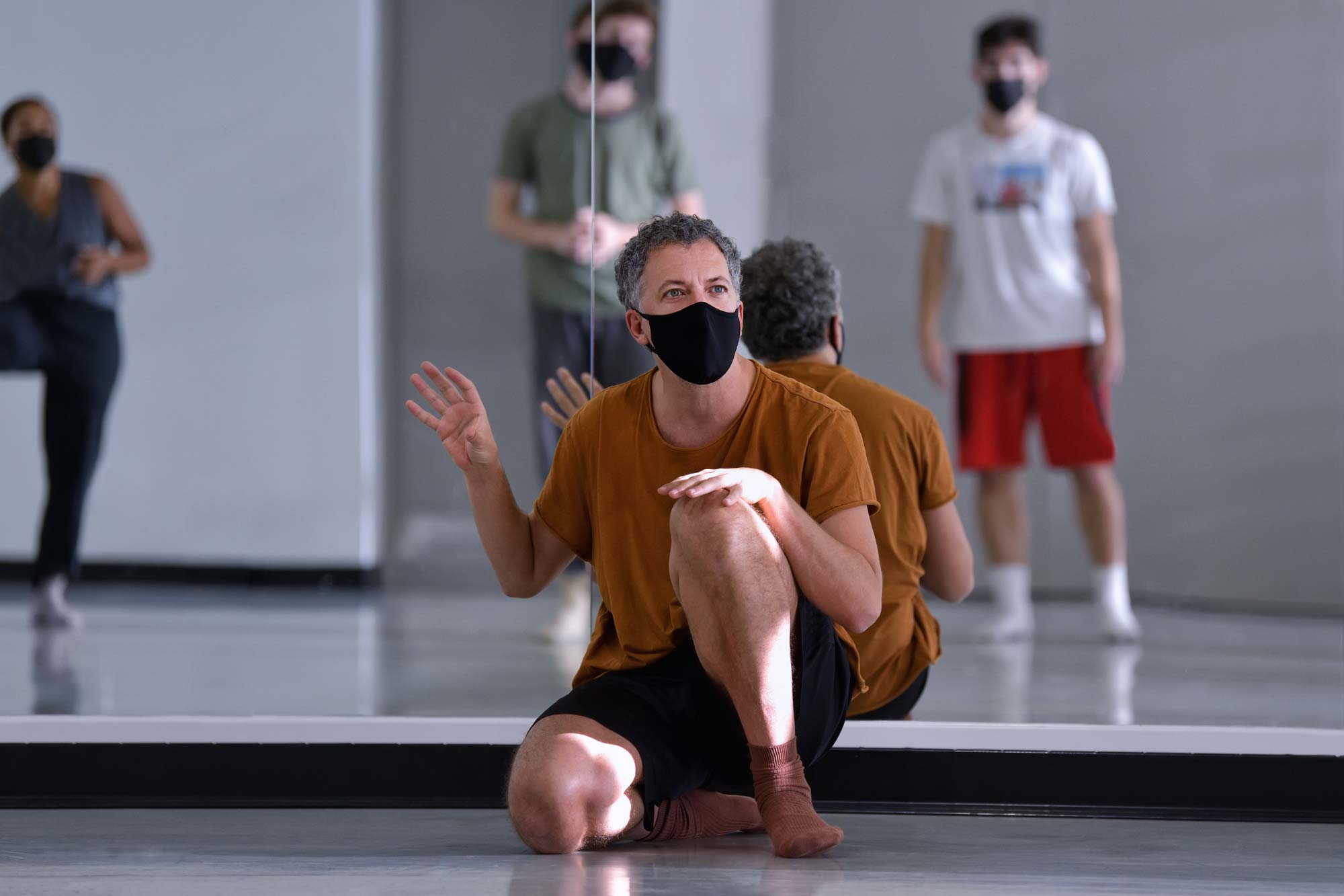 Ballet BC Artistic Director Medhi Walerski in rehearsal.